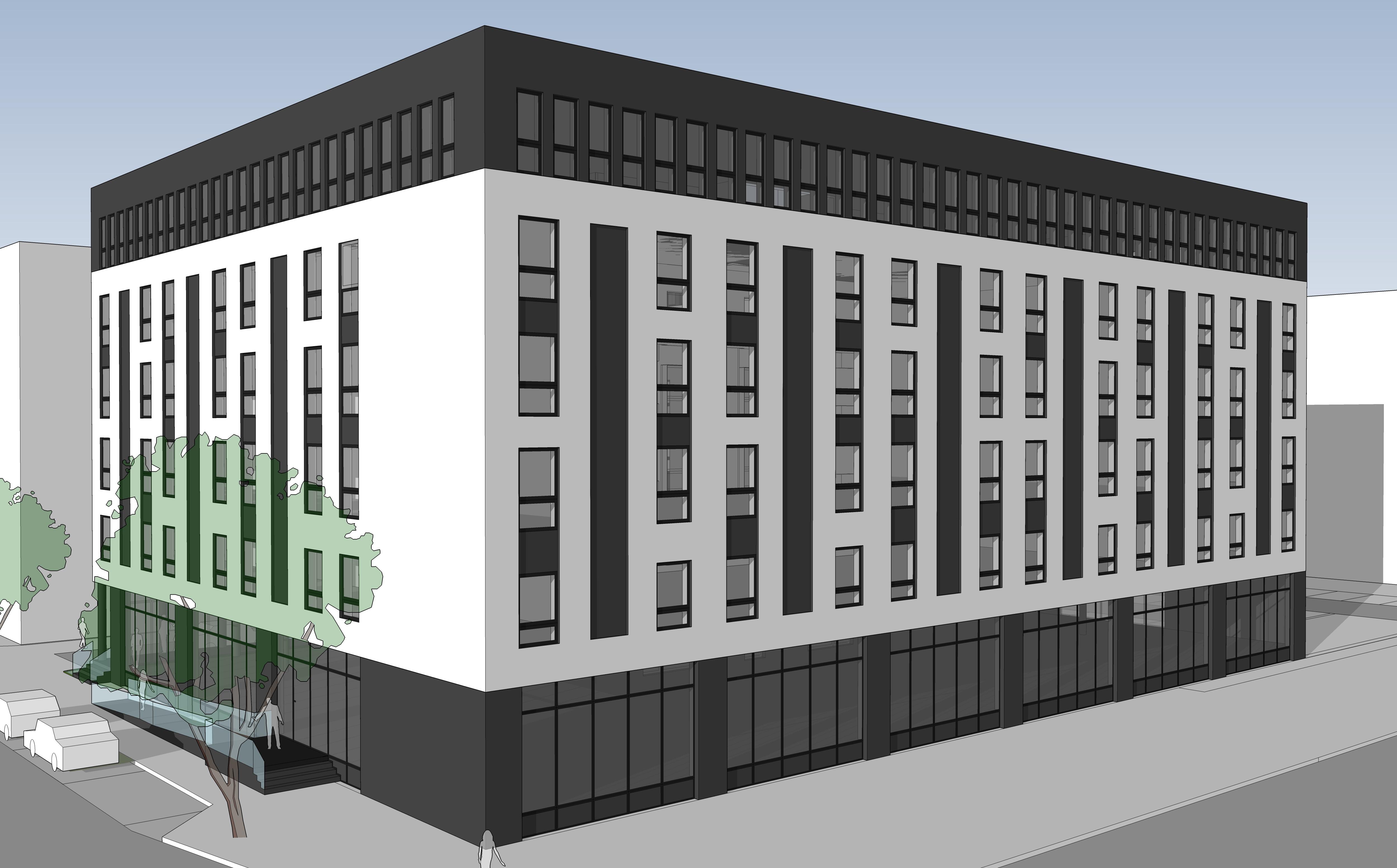 neubau boardinghouse bielefeld stopfel architekten bda. Black Bedroom Furniture Sets. Home Design Ideas